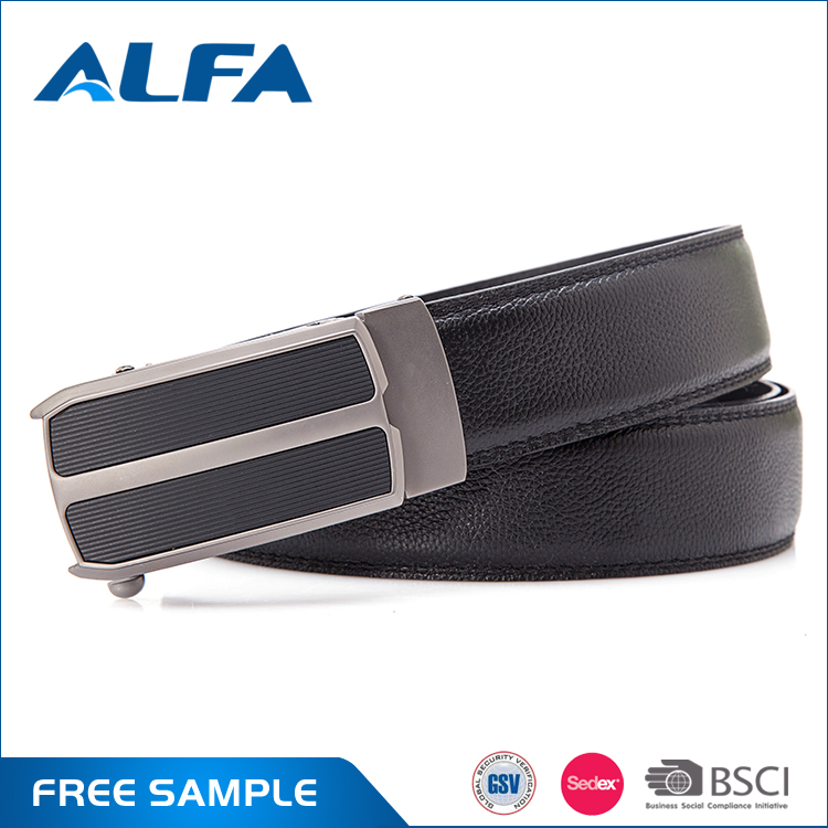 Alfa Wholesale Products Cheap Automatic Clasp Pure Leather Men Belt