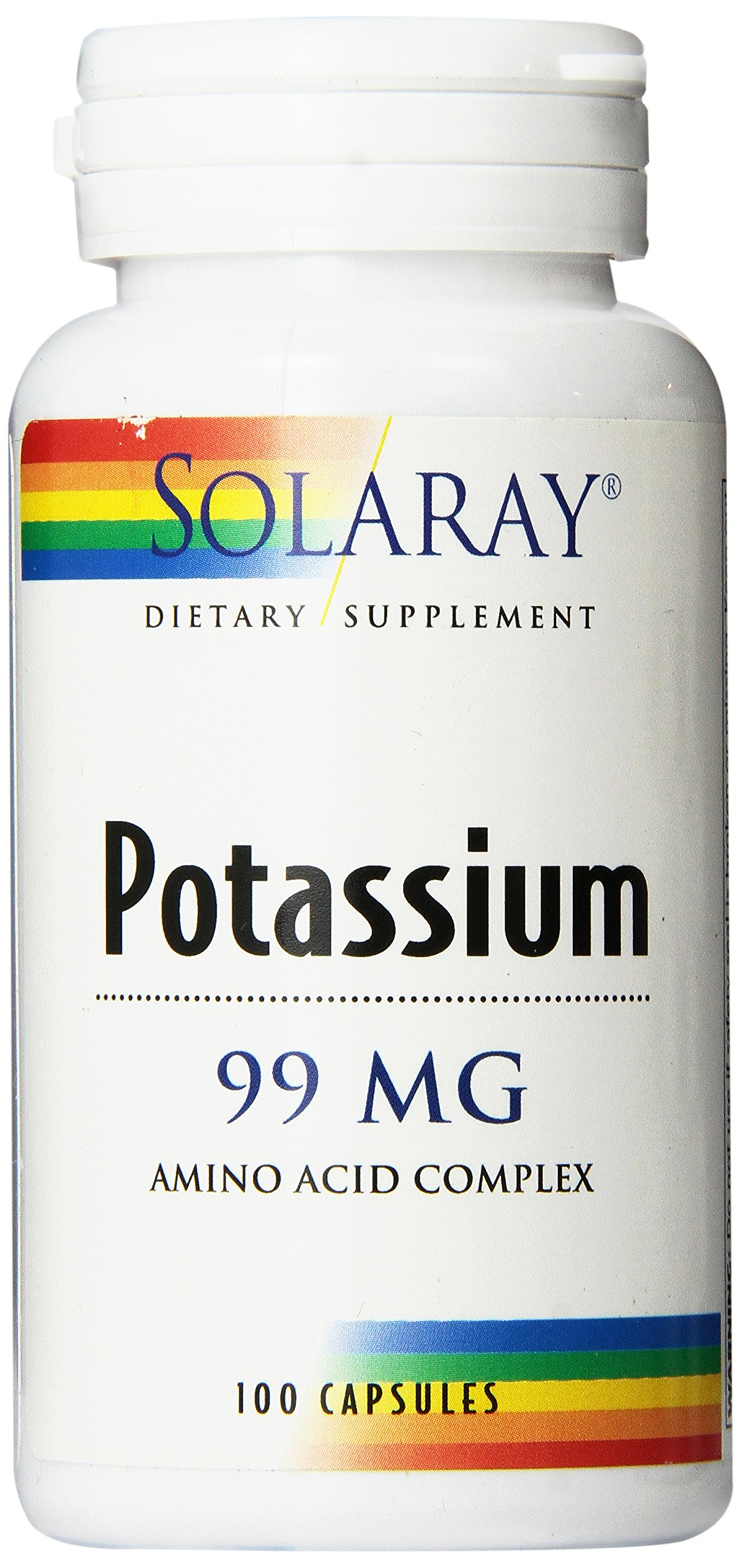 Solaray Potassium Supplement, 99 mg, 100 Count