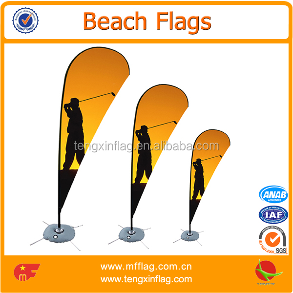 Public activity decorative beach feather flags for sale