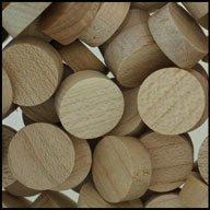 """WIDGETCO 5/8"""" Maple Wood Plugs, Face Grain"""