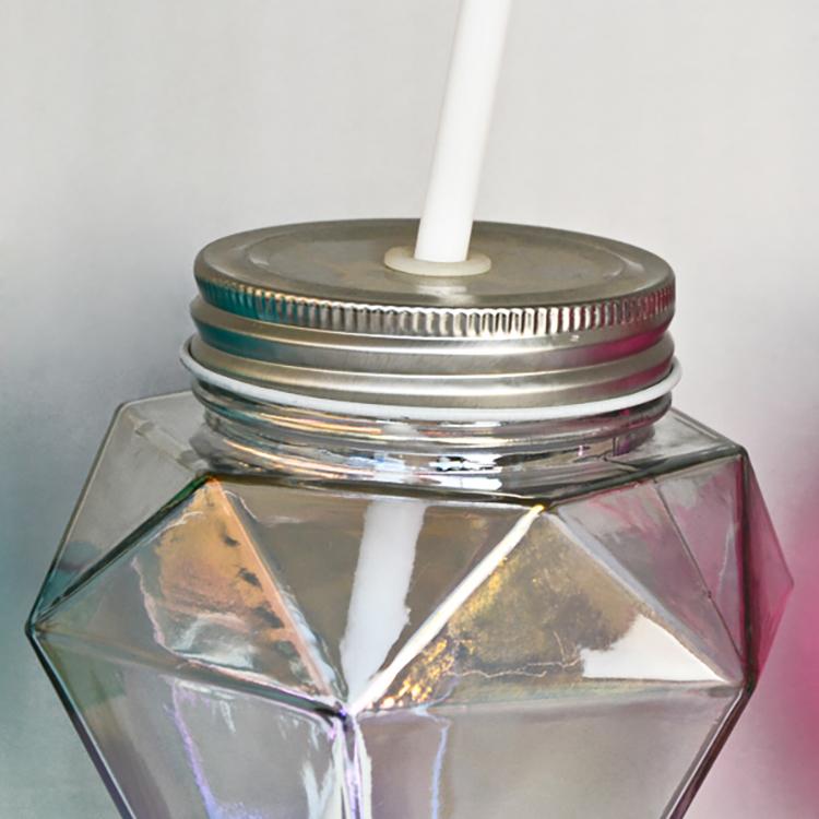 17 oz big paese mason jar per bere succo di vetro