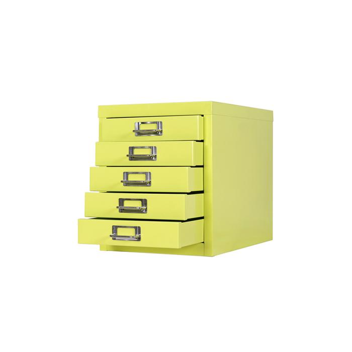 Orizeal 5 Tier Yellow Storage Cabinet Metal Drawings Filing