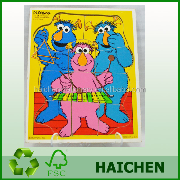 Customized Paper for kids Paper Cutting Machine Puzzle