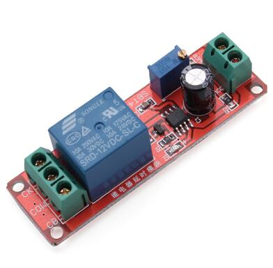link-oq256 NE555 Delay Timer Relay Switch Module Adjustable 0 to 10 Second Input-DC-12V