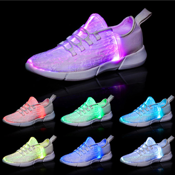new fashion kids children girls boys casual sneaker leisure ladies women  mens fiber optic led light ae6c81fb15