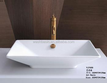 Square Porcelain Art Basin Wash Basin Ceramics Small Size Art ...