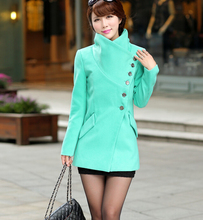 D15926A 2014 winter wool long coat for women