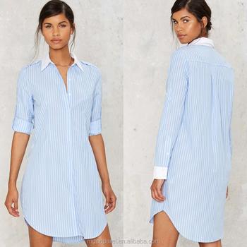 gros robe longue 2017 chemises en femme robe chemise D'été wqfECB