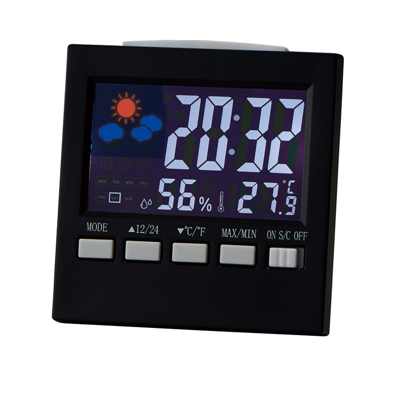 Indicatore di temperatura Digitale Ampio Display Stazione Meteo Clock Table Top