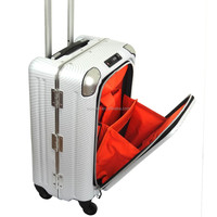 2016 fashion wheel metal luggage metal suitcase car luggage case