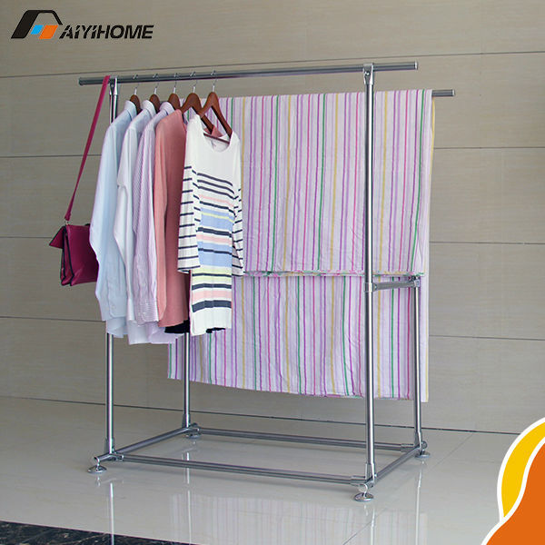 Diy Stand Telesicopic Clothes Drying Rack Coat Airer Buy