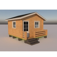Cheap Russian pine Prefab Wooden House log Cabin for sale
