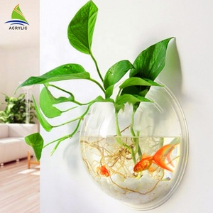 Wholesale clear round acrylic fish tanks foe decoration
