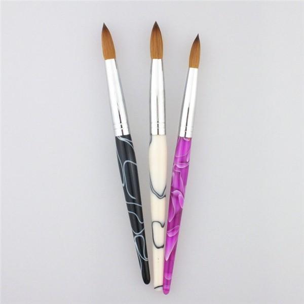 Amazon Hot Sale Top Quality Size 08 Nail Art Brush 100% Kolinsky ...