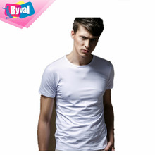 OEM custom t-shirts for men in bulk plain blank t-shirts 100% cotton factory direct wholesale online shopping