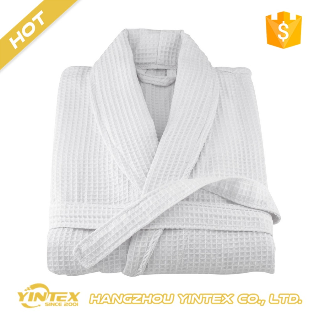 Unique design wholesale factory price bath robe high quality cotton custom size waffle bathrobe for luxury hotel