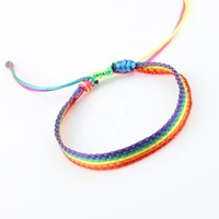 Relationship jewelry colorful wax cord woven bracelet delicate rope braided bracelet gay pride lesbian bracelet