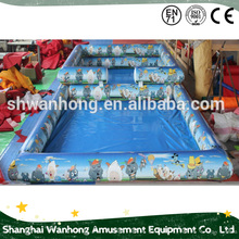 C ustomized cartoon rectangle inflatable pool