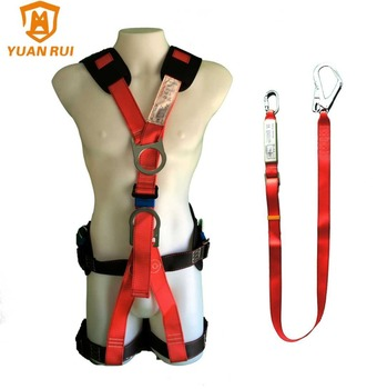 5 Point Safety Harness For Roofing Harness Equipt With Lanyard ...