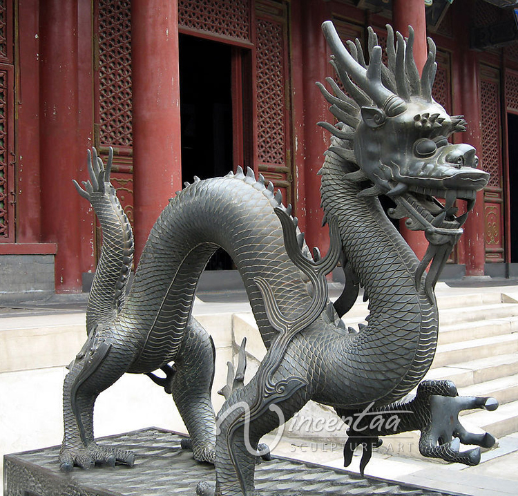 garden decoration bronze large chinese dragon statues for sale