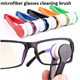 creative microfiber glasses cleaning cloth brush cleaner