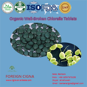 Organic Broken Cell-Wall Chlorella Vulgaris Powder 500mg Tablets