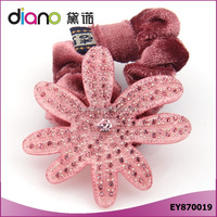 Cute Rhinestone Daisy Flower Hair Scrunchie fo Elastic Hair Bands for Hairstyles
