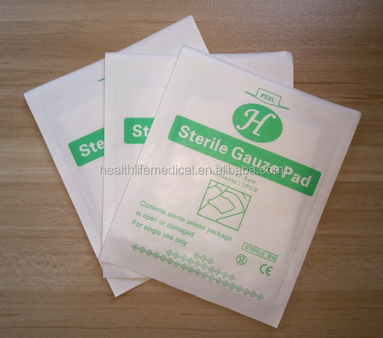 100% cotton absorbent sterile disposable surgical gauze pad
