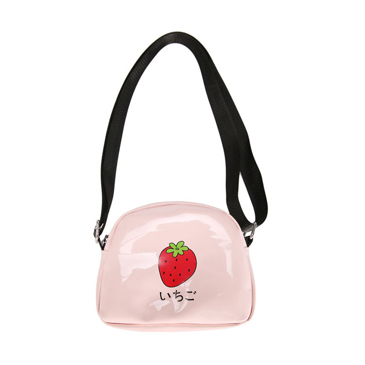 Japanese soft sister cute fruit pie messenger bag creative printing strawberry avocado lemon watermelon pu small bag