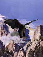 Free sample Custom 3d flying eagle painting