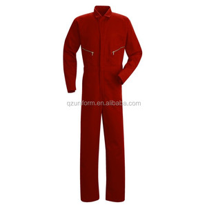 China Wholesale Men Protective Clothing Anti Fire and Static Dark Red Electrician overalls