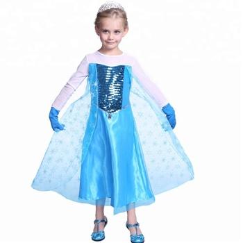 5cb5c15e68816 Frozen Elsa Dress Kids Cosplay Princess Dresses Costume - Buy ...