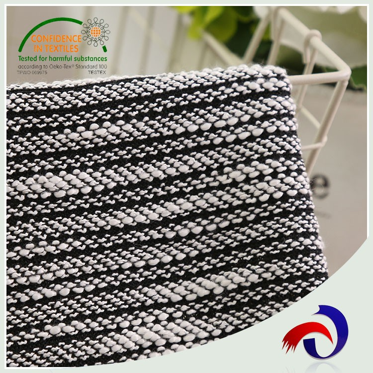 China products 100% polyester elastane hacci knit fabric wholesale for garment