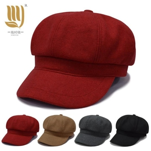 0a39569c03715 ... Baseball Cap For Unisex. Cheap price unisex ladies french autumn    winter warmth solid fashion lovely wool felt blank Newsboy
