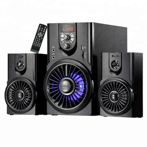 Museeq hi fi home theater system with usb sd function led light speaker