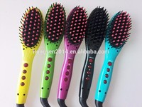 Professional PTC 100-240V fast heating electric hair straightening brush