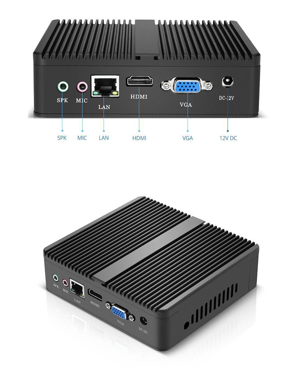 マイクロpcカスタムロゴintelコアi3 4010YプロセッサX86 htpc linuxデスクトップミニコンピュータ