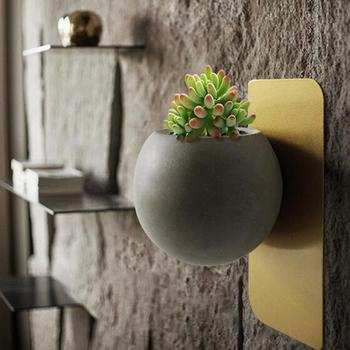 Succulent Plants Concrete Pot Wall Vase Hanging View Larger Image