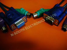 High Quality KVM Cable with VGA Mouse Keyboard
