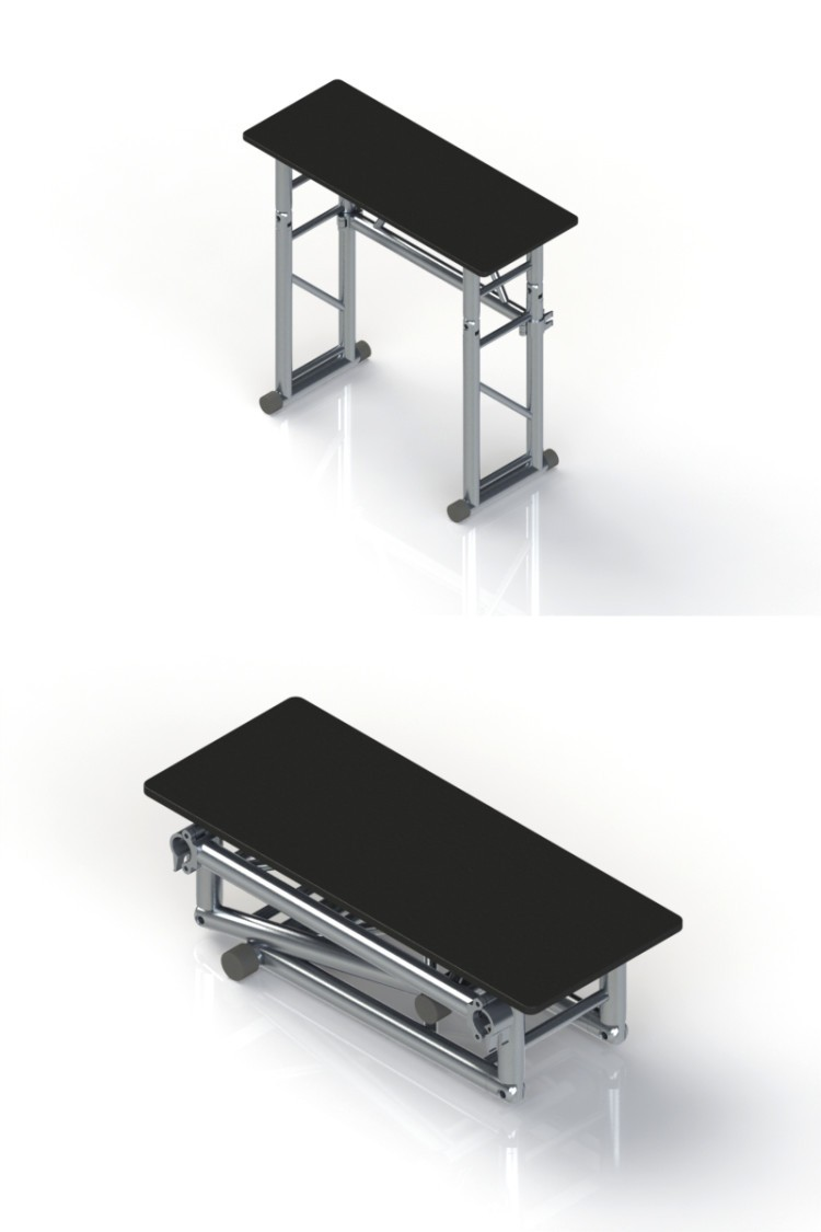 Dj Stand Table 1000mm 400mm 925mm Folding Stand For Dj