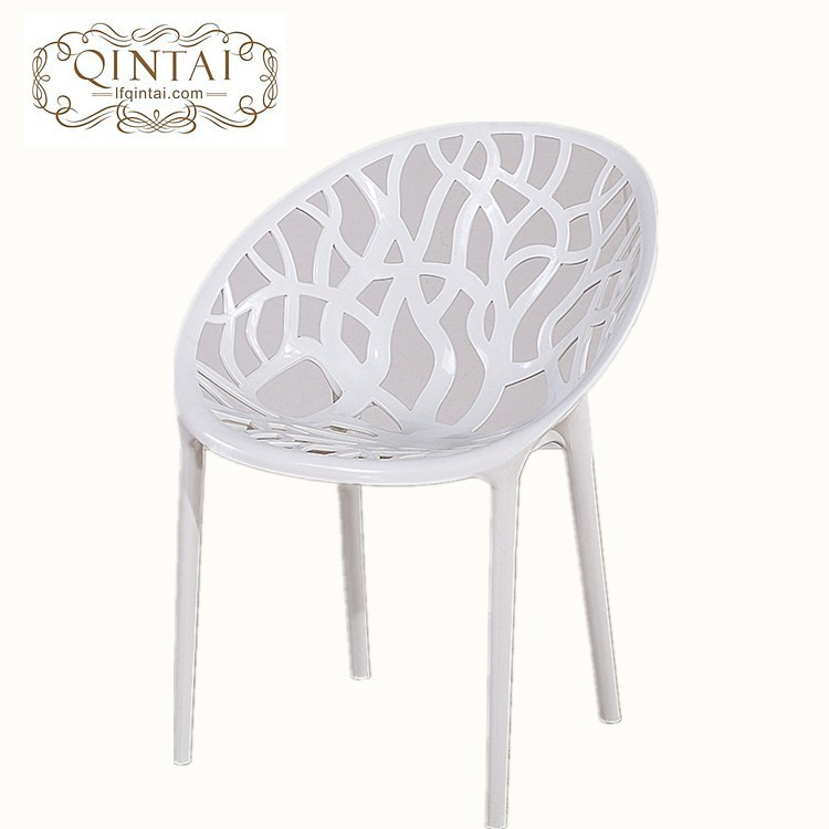 Bon Wholesale Cheap Good Quality Hot Selling Stackable Creative Design White Round  Egg Chair Plastic Branch Leisure