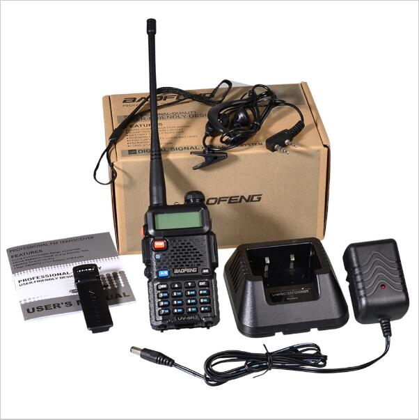 Baofeng UV-5R Walkie Talkie Dual Band Zweiwegradio FM VOX Dual Display Radio Communicator 5 Watt 128CH VHF/UHF