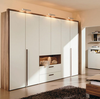 Prima Housing Custom Wood Almirah Design In Bedroom White ...