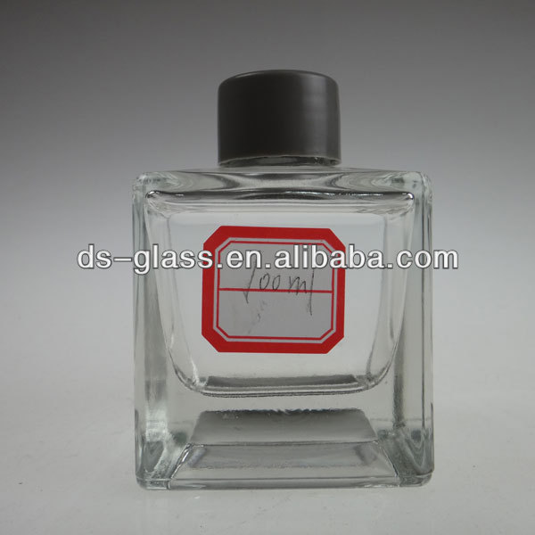 100ml square reed diffuser oil glass bottles