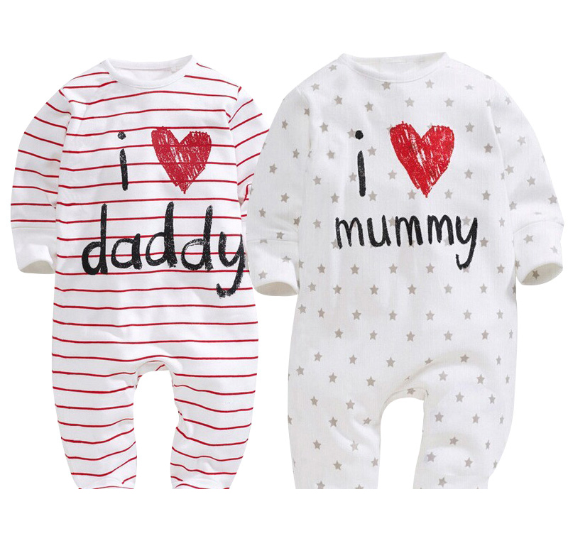 Baby Rompers Love Papa Mama Baby Girl Jumpsuit Long Sleeve Romper Baby Boy Newborn Romper Jumpsuit For Infant Baby Costume