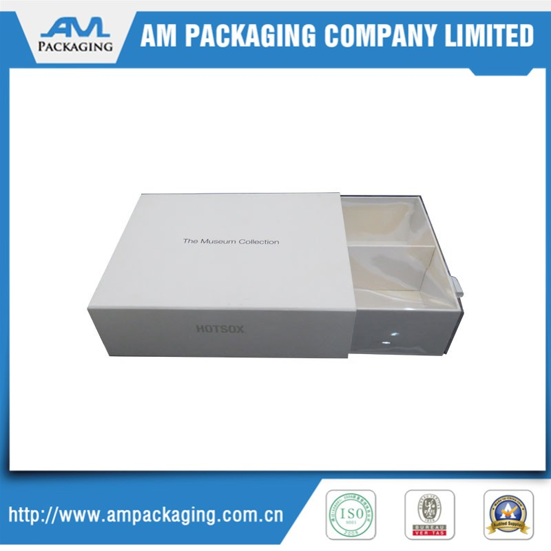 white cardboard drawer jewelry packaging box for watch packing