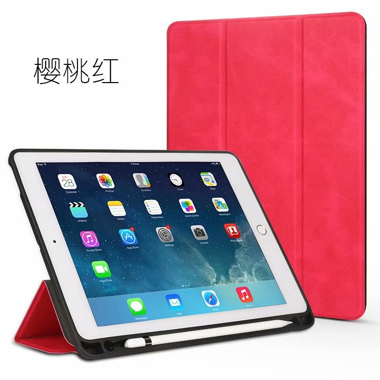 For apple <strong>iPad</strong> 9.7 Case, Classic business style Genuine leather +tpu back with pen slot leather cover for <strong>ipad</strong> cover