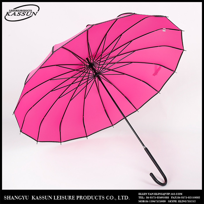 Outdoor furniture advertising fashionable golf straight umbrella
