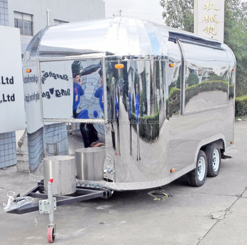 New business Airstream very good at make business in street, popular mobile food trailer