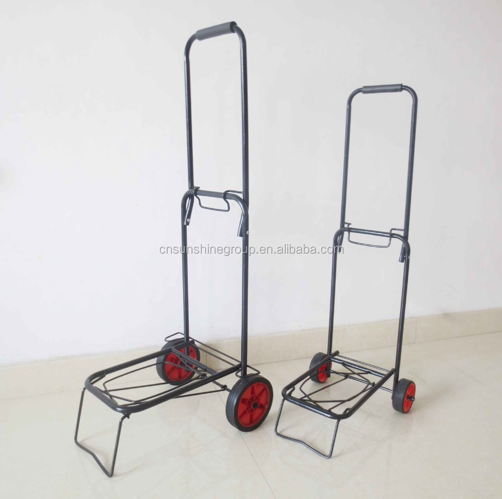68df4c136470 Factory Price Supermarket Hand Trolley/lightweight Aluminum Two ...
